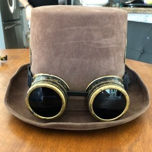 Steampunk Tophat and Goggles
